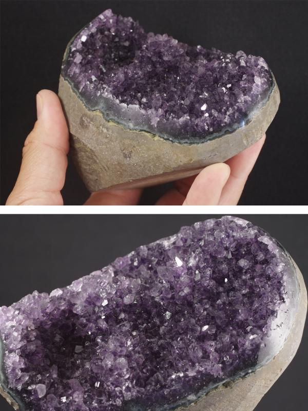 ウルグアイ産アメジスト結晶