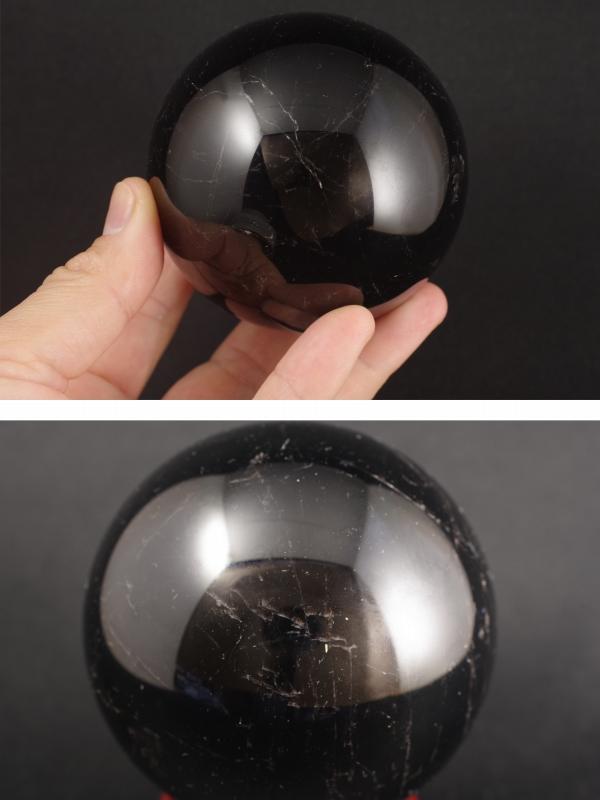 黒水晶丸玉