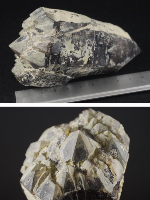 黒水晶×長石結晶 438g