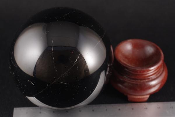 黒水晶モリオン丸玉