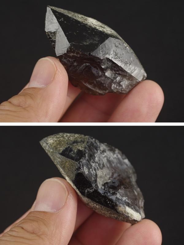 黒水晶モリオン原石結晶