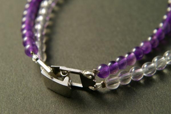 水晶×アメジスト(紫水晶) 二連ブレスレット