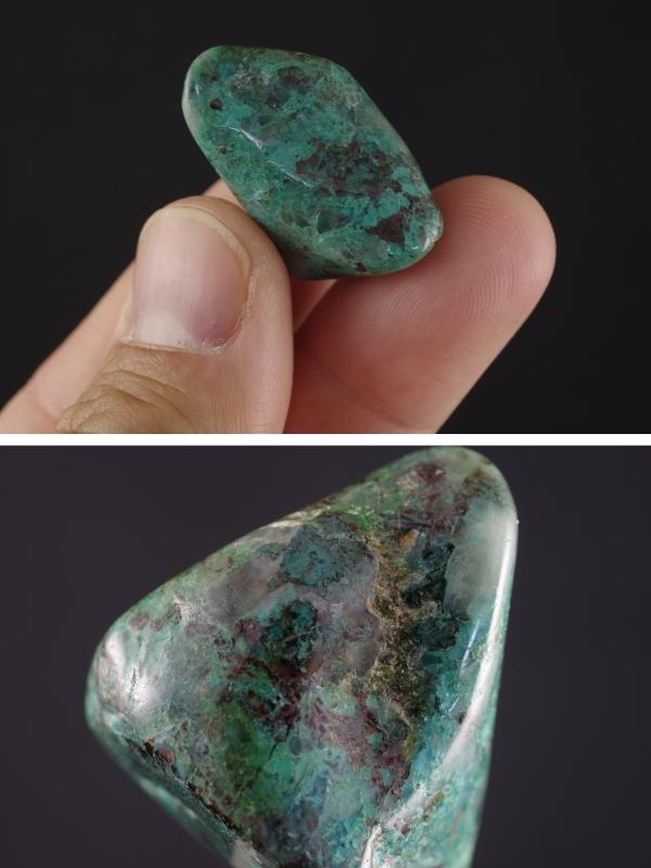 クリソコラ原石(珪孔雀石)磨き石