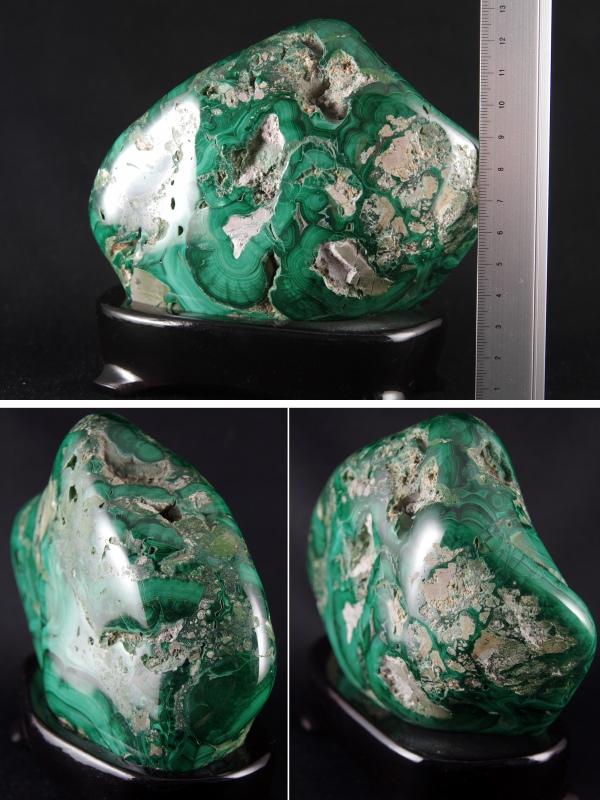 マラカイト(孔雀石)原石置き飾り