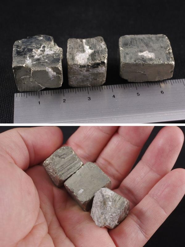 パイライト (黄鉄鉱) 原石3個セット